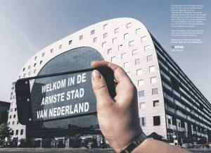 Warm Rotterdam paginagroot in de NRC