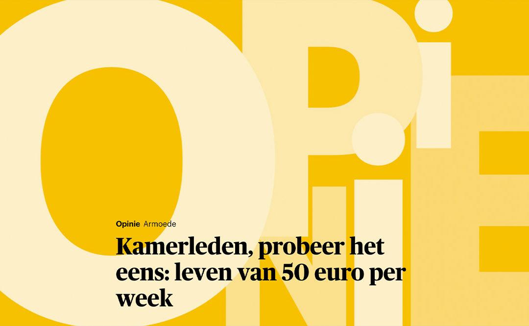 Kamerleden, probeer het eens: leven van 50 euro per week